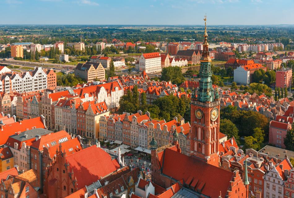 polskie miasto z lotu ptaka